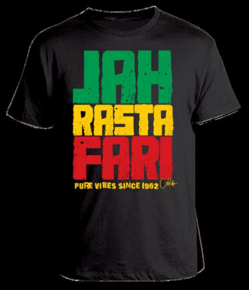 Men's 'Jah Rastafari' Printed Cotton Tee