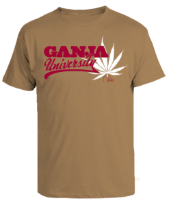 Men's 'Ganja University' Printed Cotton Tee