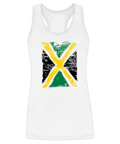 white tank with printed Jamaica Flag