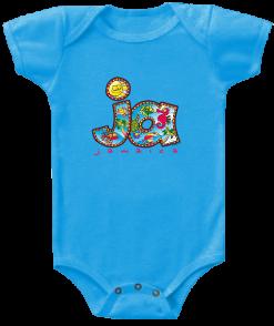 Baby 'Jamaica' Printed TurquoiseRomper