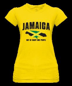 ladies yellow printed t-shirt