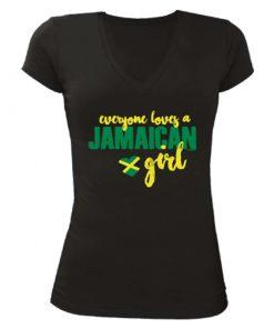 black ladies printed t-shirt