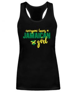 Ladies 'Jamaican Girl' Spandex black tank top