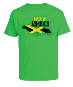jamaica green kid's printed t-shirt