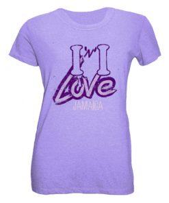 lavender printed t-shirt