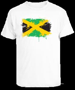 men's painted flag printed t-shirt