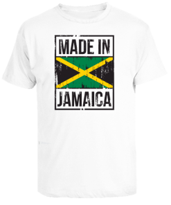 'Made in Jamaica' white printed t-shirt