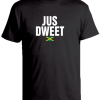 black ' jus dweet' slim fit t-shirt
