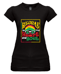 ladies black printed t-shirt