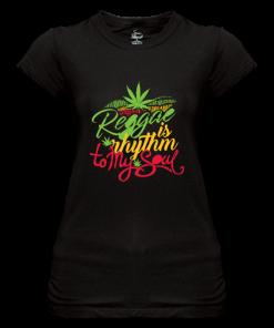 black sheer jersey printed t-shirt