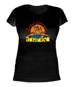 Ladies Black 'Summer never ends' T-shirt