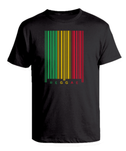 black Kid's 'Reggae Barcode' T-shirt