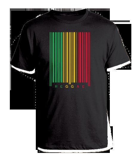 black Kid's 'Reggae Barcode' T-shirt