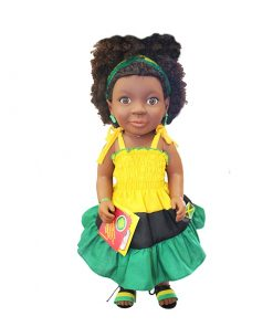 Patois Speaking Doll (Tie-Dye Outfit)