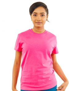 Ladies Magenta Crewneck Tee
