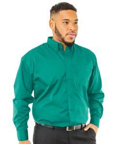 Men's Long Sleeve Emerald Twill Shirt