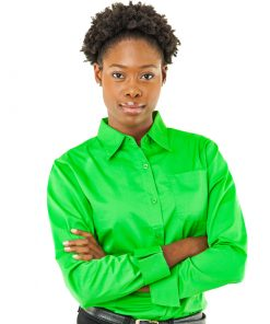 green long sleeve twill shirt