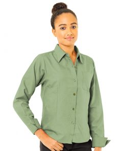 Sage long sleeve oxford shirt