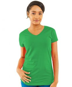 Ladies Spandex V-neck Jersey