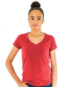 Ladies V-Neck Sheer Jersey Tee