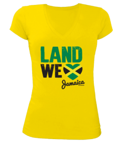 Ladies 'land We Love' V-Neck Sheer Jersey T-shirt