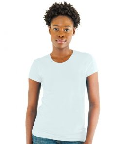 Ladies Spandex Crew Neck Jersey Tee