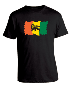 Men's 'Lion of Judah' Printed Cotton Tee