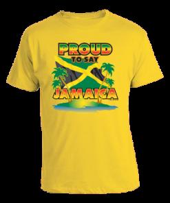 en's 'Proud to Say Jamaica' Yellow T-shirt