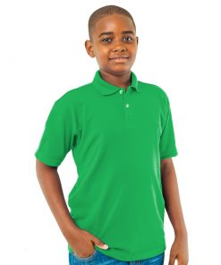Kid's Jamaica Green Golf Shirt