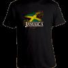 Kid's Black 'Jamaica' Printed Cotton Tee