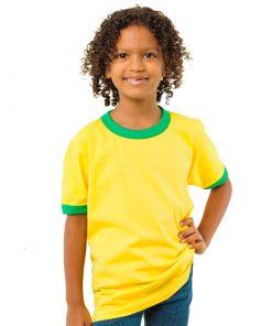 Kids yellow Ringer Tee