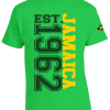 Men's 'Jamaica 1962' Printed Jamaica Green Cotton Tee