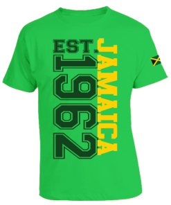 Men's 'Jamaica 1962' Printed Jamaica Green Cotton Tee