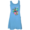 sky blue ladies printed tank dress