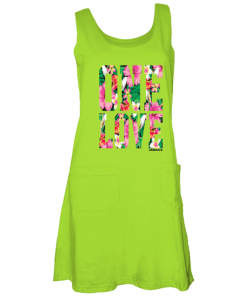 lime green maxi tank dress
