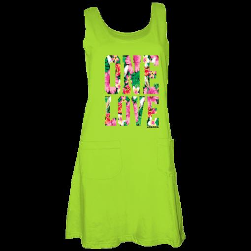 lime green maxi tank dress