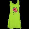 lime printed tank dress
