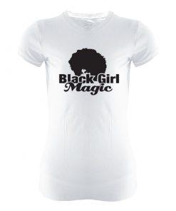 white printed spandex t-shirt