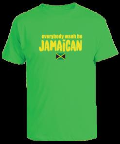 jamaica green printed t-shirt
