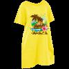 yellow maxi tee dress