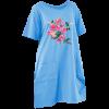 sky blue printed maxi-t dress