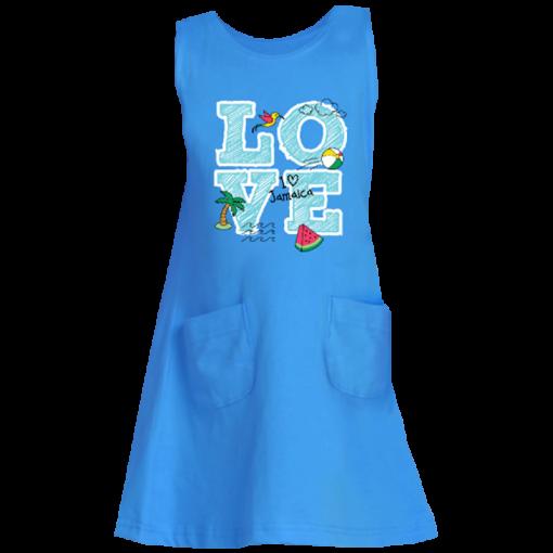 turquoise tank dress
