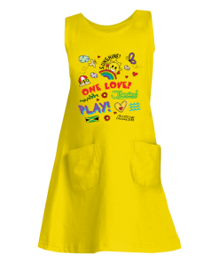 yellow girls tank dress