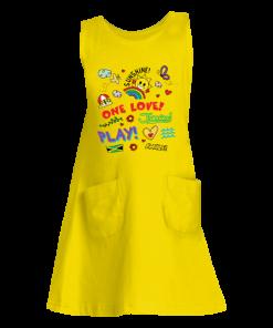 yellow girls tank dress