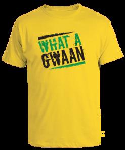 yellow printed cotton t-shirt