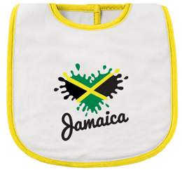 yellow and white infant bib