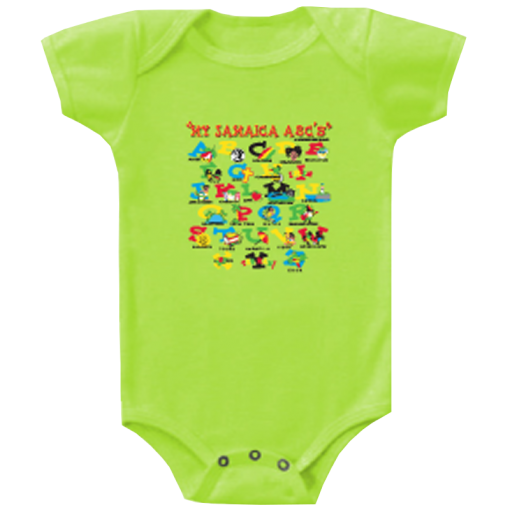 lime baby romper