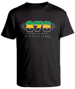 black kids t-shirt with 876 design