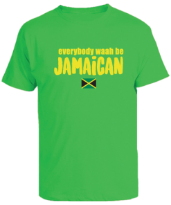 Jamaica green kids printed t-shirt