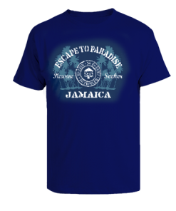 kids navy blue printed t-shirt